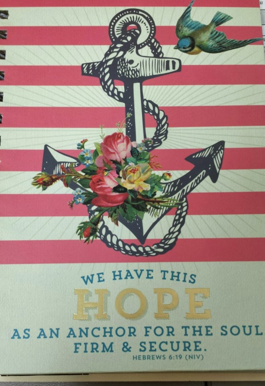 My new journal. Because anything is possible. All you need is a little hope...
