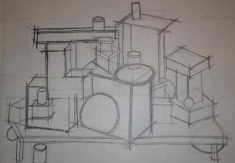 Still life sketch from undergrad